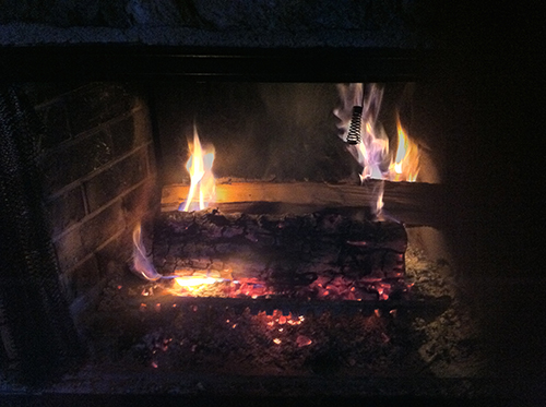 My fireplace, burning brightly.