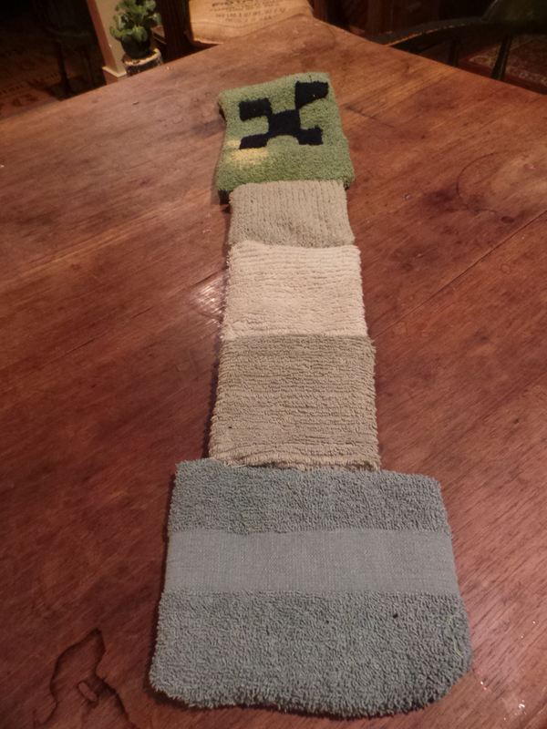 A Creeper scarf that I made.