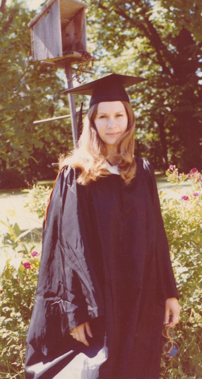 A photograph of me in my Princeton graduation gear, 1979.