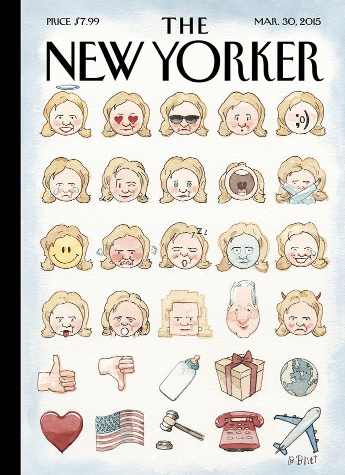 A New Yorker cover from 2015.