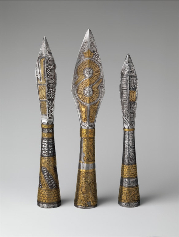 Ceremonial spear heads from medieval Prague.