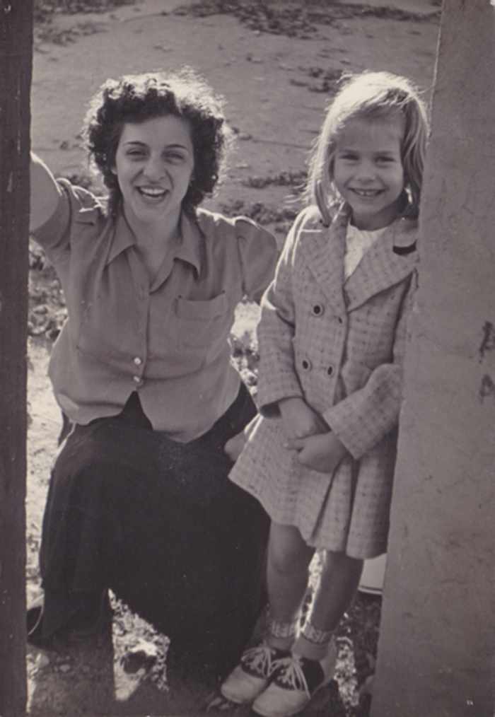 My mother and me, maybe 1952.