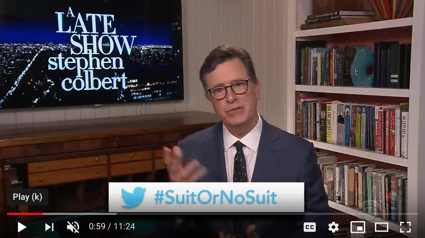 Stephen Colbert becomes a mere mortal. One of us.